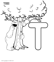 cookie monster and the letter t free coloring pages