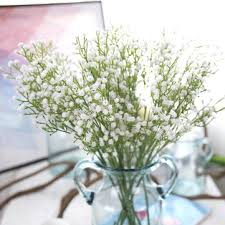 artificial flower gypsophila 1 bouquet 6 branches wedding party