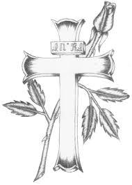 cross and flower design