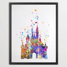 amazon com dignovel studios 8 x 10 cartoon castle watercolor