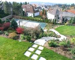 How To Landscape A Sloped Backyard - sloped backyard design ideas full image for sloped front yard