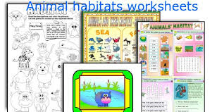 english teaching worksheets animal habitats