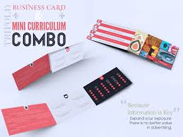Business Cards Mini Trifold Business Card U0026 Mini Curriculum Combo By Luis Faus Dribbble