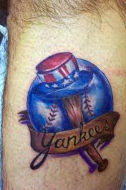flaming ny yankees tattoo in 2017 real photo pictures images