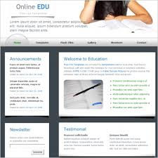 education website templates free website templates for free