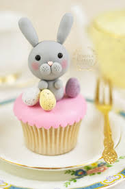 Easter Eggs Decorated With Fondant by Create A Cute Gum Paste Edible Easter Bunny With This Tutorial