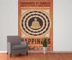 thousand of candles buddha happiness wall mural buy at thousand of candles buddha happiness wallpaper mural