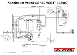 wiring loom vespa vespa gs160 until no 36000 models with