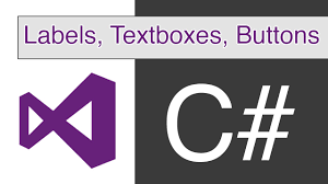 visual studio c labels textboxes and buttons youtube