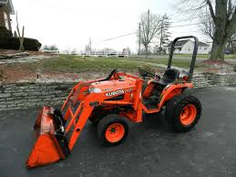 kubota b7300 compact tractor u0026 front hydraulic loader diesel 4x4
