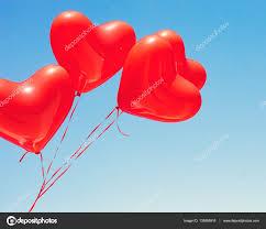 heart shaped balloons various heart shaped balloons stock photo andrekaphoto