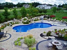 Deep Backyard Pool by Kalamazoo Pool Service U0026 Construction Gallery Of Completed Pools