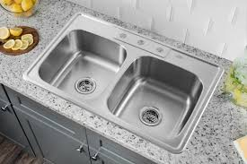 33 x 22 drop in kitchen sink soleil 33 x 22 stainless steel drop in double bowl kitchen sink