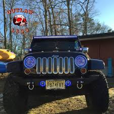 1997 2017 Jeep Wrangler Double Halo Kit Only Outlawleds