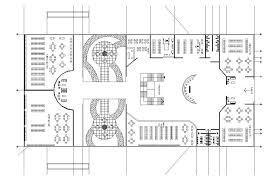 bookstore design floor plan library design plan cad drawing cadblocksfree cad blocks free