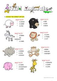 80 free esl wild animals worksheets