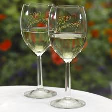50th anniversary plates you can engrave engraved 50th anniversary wine glass set