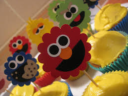 sesame cake toppers sesame cupcake toppers