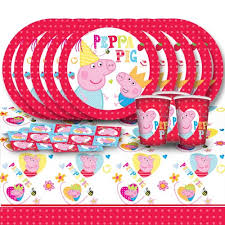 peppa pig party supplies peppa pig children s birthday complete party
