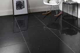 Witex Laminate Flooring Quartz Stone Tile Black 600x600mm Superior Quartz Stone Floor