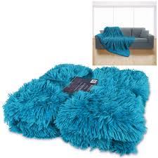 Faux Fur Electric Throw Luxury Super Soft Long Pile Throw Blanket Faux Fur Warm Shaggy