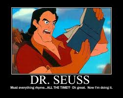 Dr Seuss Memes - gaston reads dr seuss by killerchaos7 on deviantart