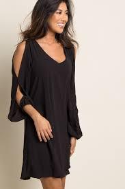 sleeved black dress black chiffon open sleeve dress