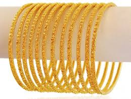 gold bangle bracelet sets images Yellow gold bangles set 12 pc asba60386 22k yellow gold jpg