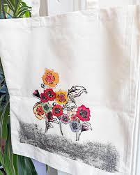 bag for life reusable tote bag shopper shoulder bag flower