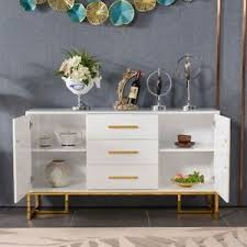 gremlin wheeled kitchen storage sideboard buffet cabinet white wood glass kitchen white sideboards buffets trolleys for sale