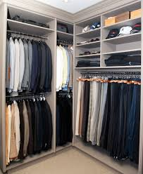 Shelves For Shoes by Brian Gluckstein Masculine Gray Closet With Clothes Rail Storage