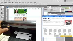 epson l800 impresion de tarjetas pvc epson id card printing