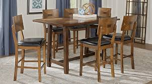 rectangle counter height dining table valleyside oak 7 pc rectangle counter height dining set dining