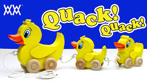 make a wooden duck pull toy classic toddler fun youtube