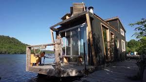 living on a 4 season houseboat beautiful floating tiny house