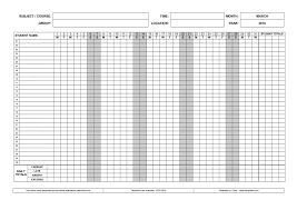 attendance book template attendance record for clubs church and