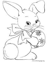 easter coloring pages rabbits bunnies happy bunny holding