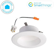 Wireless Ceiling Light Fixtures Halo Rl 4 In White Wireless Smart Integrated Led Recessed Ceiling