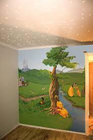 fresque murale chambre bébé design interieur fresque murale winnie lourson blanche neige