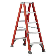 louisville ladder 12 ft fiberglass step ladder with 300 lbs load