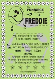 Black Invitation Card Sport Day Party Invitation Card With Plain Green Background And
