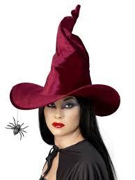 Spider Witch Halloween Costume Burgundy Velvet Witch Hat Spider Halloween Hats Uq224144