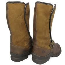 womens yard boots waterproof leather walking fur outdoor winter yard country