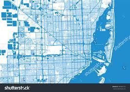 Map Of Miami Florida Vector City Map Miami Florida Stock Vector 580940179 Shutterstock