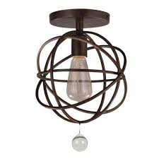 Orb Ceiling Light Solaris Orb Ceiling Mount By Crystorama Lighting Connection
