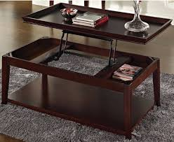 lift top coffee table pop up tray style casters hidden storage