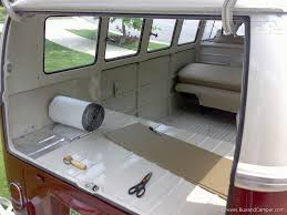 volkswagen camper inside vw camper soundproof materials bus and camper
