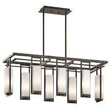 kichler dining room lighting chandelier linear 8lt oz