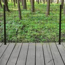 deco grid 4 ft x 6 ft steel black fence panel black fence