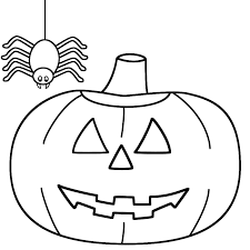 halloween spider images coloring page free download